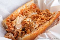 buffalo chicken subs! could eat everyday Chicken Subs, Chicken Philly, Chicken Bites, Chicken Meatballs, Chicken Wraps, Recipe Chicken, Chicken Salad, Grilled Chicken, Buffalo Chicken Sandwiches