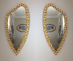 Mirror I've painted and stamped a design on Helen Cooper, Mirrors, 1970s, Painting, Furniture, Design, Home Decor, Homemade Home Decor, Painting Art