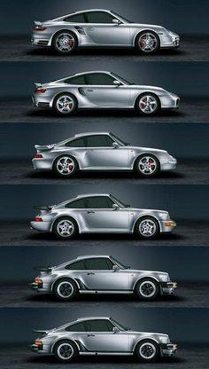 Evolution de la Porsche 911 Turbo... je suis preneur de n'importe lequel ^_^