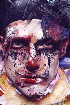 """I Pagliacci"" — Photographer:Livia AlcaldeStylist:Pablo PatanéHair: Riccardo LupiniMakeup:V)Or Makeup - Valeria OrlandoModel: Pawel Binezak @ Independent"