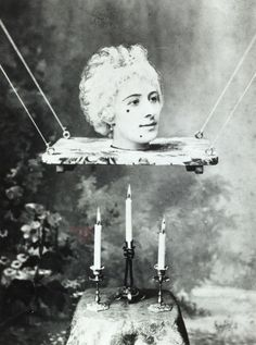 Production still picturing Jehanne d'Alcy, actress and the wife of Georges Méliès in his film La source enchantée, circa 1890s. Image courtesy of Tony Oursler's personal archive.