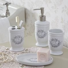 Perfect for my French quarter bath Coordinated Set-La Bain & Cherub