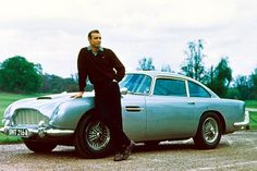 Aston thriller ... Sean Connery with car in 1964's Goldfinger