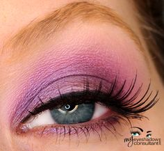 Because EVERY lady needs a great purple combo! This is MAC Satellite Dreams on the lid, MAC Stars 'N Rockets in the crease - WOWZER!