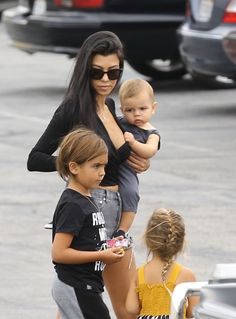 Kourtney Kardashian & Kids At King Cairo's Birthday Bash