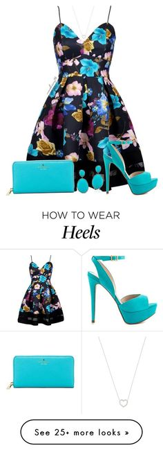 """Pretty In Turquoise"" by avonsblessing94 on Polyvore featuring Tiffany & Co., ALDO and Kate Spade"