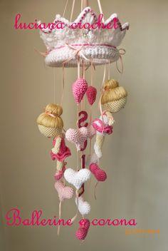 """Luciana Crochet: Mobile Gioco Bimba """"LE BALLERINE"""""""