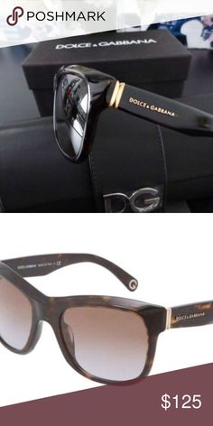 a6e3af71a223 DOLCE & GABBANA Sunglasses DG4129 502/13 Tortoise These Dolce and Gabbana  luxury sunglasses are