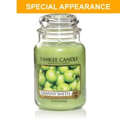 Yankee Candle Granny Smith Green Apple Fruit Large Jar Qty 2 for sale online Yankee Candle Scents, Yankee Candles, Scented Candles, Glass Jars, Candle Jars, Candle Holders, Home Scents, Granny Smith, Fragrance