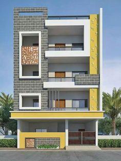 3 Storey House Design, Bungalow House Design, House Front Design, Small House Design, Modern House Design, Home Tiles Design, Floor Design, 2bhk House Plan, House Design Pictures
