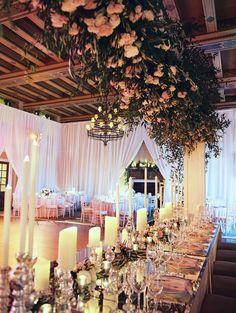 Wedding reception centerpiece idea; Abby Jiu Photography