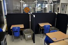 DYI classroom dividers...maybe this would solve my dilemma!