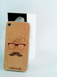 Microthin removable stickers with engraving.  WWW.WOODCARDS.NET