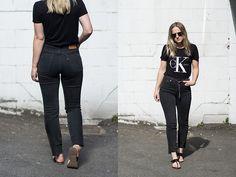 Jenaly Enns - Calvin Klein Logo T Shirt, Levi's® Wedgie Fit Jeans - Calvin Klein // Levi's jeans
