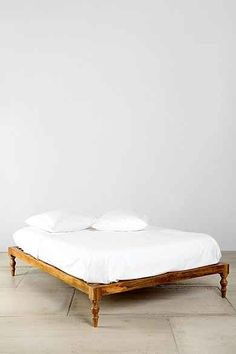 Magical Thinking Bohemian Platform Bed - love the leg detail.