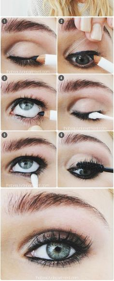 Perfect smokey eye and only two products.