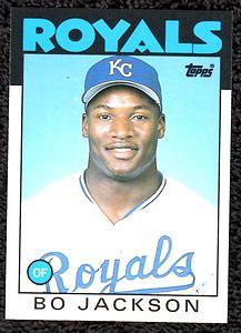 Bo Jackson - Kansas City Royals-Rookie #50T
