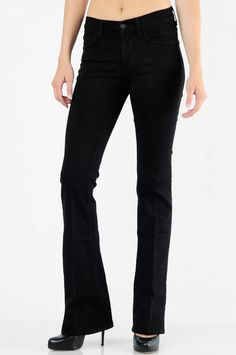 black high-waisted jeans