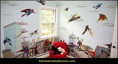 Superhero bedroom ideas - Superhero themed bedrooms - Superhero room decor - superhero bedroom decorating ideas - Superheroes bedroom ideas - Decorating ideas Avengers rooms - superhero wall murals - Comic Book bedding - marvel bedroom ideas - Superhero B Bedroom Themes, Bedroom Wall, Bedroom Ideas, Bedroom Decor, Marvel Wall Art, Superhero Room Decor, Marvel Bedroom, Avengers Room, Wall Mural Decals