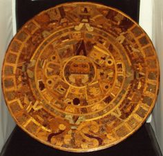 Large wooden Mayan calendar