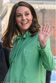 Despite the recent chilly temperatures, Kate was dressed for Spring...