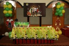 Ben 10 Party with awesome printed aliens hanging