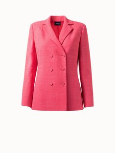 Akris® Official – Checked Wool Double Face Double Breasted Jacket Double Breasted Jacket, Two By Two, Stylists, Fall Winter, Feminine, Leather Jacket, Blazer, Wool, Suits