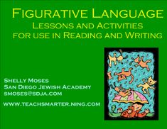 Figurative Language - Lessons and activities about figurative language fore reading and writing including metaphor, simile, alliteration, onomatopoeia, hyperbole, and personification.  Resource type: SMART Notebook lesson  Subject: English as a Second Language,  English Language Arts  Grade: Grade 1,  Grade 2,  Grade 3,  Grade 4,  Grade 5,  Grade 6,  Grade 7,  Grade 8,  Grade 9,  Grade 10,  Grade 11,  Grade 12