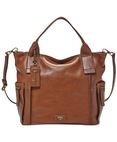 Fossil Emerson Leather Satchel - Handbags & Accessories - Macy's