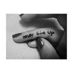 finger tattoo | Tumblr ❤ liked on Polyvore