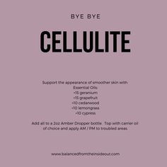 Bye Bye Cellulite Most of us struggle with cellulite on unwanted areas of our bodies, especia. Essential Oils For Skin, Essential Oil Uses, Young Living Essential Oils, Essential Oil Cellulite, Cellulite Oil, Oil For Stretch Marks, Essential Oil Stretch Marks, Sent Bon, Doterra Essential Oils