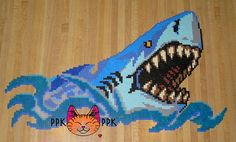 perler shark - Google Search