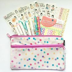 I love filling up my pencil case with fun planner goodies. These beautiful diary stickers fit nicely with my markers and pens.  Cute pencil cases can be found at the shop.   Planner goodies available at: mydecoratedbliss.bigcartel.com Printables at: mydecoratedbliss.etsy.com   #planner #plannerstuff #plannerjunkie #plannergoodies #plannercommunity #plannerstash #plannerdecorating #plannersupplies #filofax #lifeplanner #stickers #stationery #kikkik #create365 #meandmybigideas