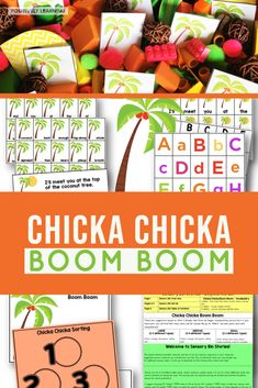 Chicka Chicka Boom Boom Sensory Bin Story - add hands-on literacy and math tasks with this interactive sensory bin center! Mentor sentence, vocabulary, sorting and so much more.