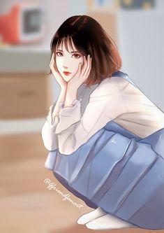 Fanart of Eunha - Gfriend Korean Anime, G Friend, Kawaii, New Image, Moonlight, Ulzzang, Idol, Fan Art, Actresses