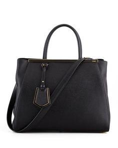 2Jours Vitello Elitel Shopping Bag, Black