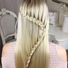 The Harp Braid ❤️ - Frisuren Braided Hairstyles Tutorials, Cool Hairstyles, Braid Hairstyles, Sweethearts Hair Design, Hair Upstyles, Hair Videos, Hair Designs, Hair Hacks, Hair Inspiration