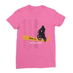 Motocross Orange and Black Women's Fine Jersey T-Shirt