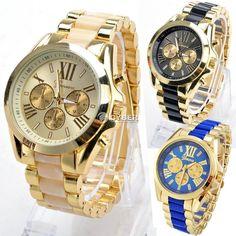 b467d6f5e2 Classic Luxury Men Stainless Steel Quartz Analog Wrist Watch Fashion  Waterproof クールな時計, スポーツ