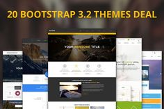 20 Premium Bootstrap Themes Deal by IceTemplates on @creativemarket