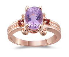 Kunzite and Pink Tourmaline Three Stone Ring in 14K Pink Gold ►► http://www.gemstoneslist.com/jewelry/kunzite-rings.html?i=p