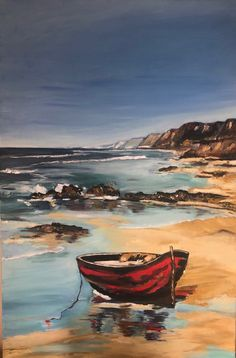 Watercolor Landscape Paintings, Impressionist Paintings, Seascape Paintings, Boat Painting, Artist Painting, Acrylic Painting Inspiration, Oil Pastel Art, Boat Art, Cityscape Art