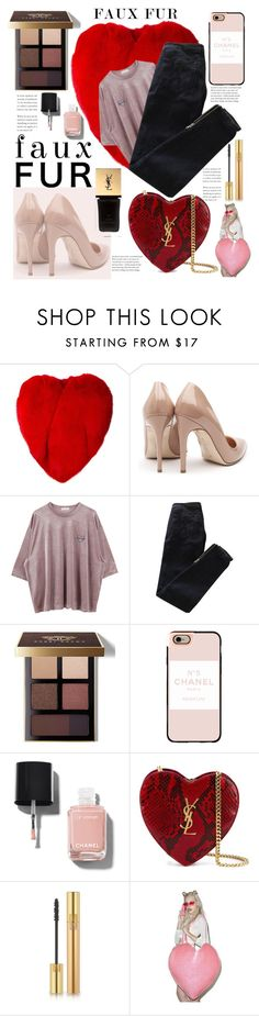"""""""Love ❤️"""" by julianamourning ❤ liked on Polyvore featuring Yves Saint Laurent, Rupert Sanderson, Pierre Balmain, Bobbi Brown Cosmetics, Casetify, Chanel, love and heart"""