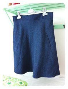 KakTusser: Jeans nederdel med paspolerede lommer