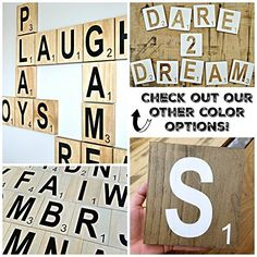 This Listing Is For Individual 5x5 Scrabble Tiles Order