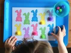 Great gross motor activity for toddlers. activities for toddlers sensory Bunny Tail Match Activity - Simply Learning Easter Activities For Toddlers, Toddler Learning Activities, Spring Activities, Motor Activities, Toddler Preschool, Toddler Crafts, Preschool Activities, Simply Learning, Tot School