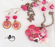 polymer clay necklace / fairy/ fimo/ clay / zingara creativa
