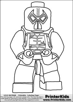 color pages for batman's villians lego | lego batman bane printable coloring page coloring page with a lego ...