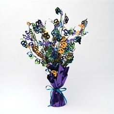 Bright And Bold Foil Spray Centerpiece 60th/Case of 6 Tags: Bright & Bold; Centerpieces; General Birthday; general birthday party ideas;general birthday party tableware;milestone birthday party ideas; https://www.ktsupply.com/products/32786323254/Bright-And-Bold-Foil-Spray-Centerpiece-60thCase-of-6.html
