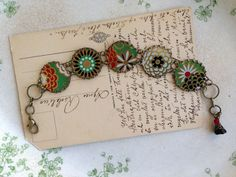 Tin Jewelry Bracelet Mums Electric Tin for the Ten by TheMadCutter, $34.00